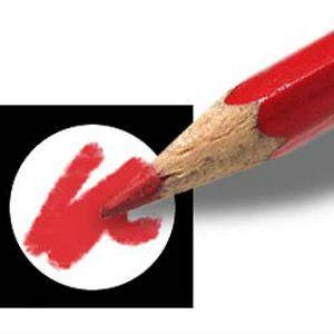 Afbeelding van stemvakje en rood potlood