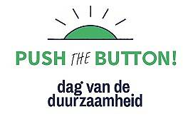 Logo met tekst push the button